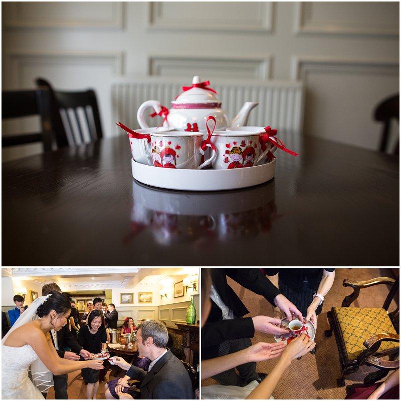 Tea Ceremony at Wedding at The Villa Wedding Photography Lancashire