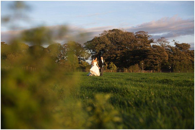 Bride and Groom take a Stroll | Wrea Green The Villa Lancashire