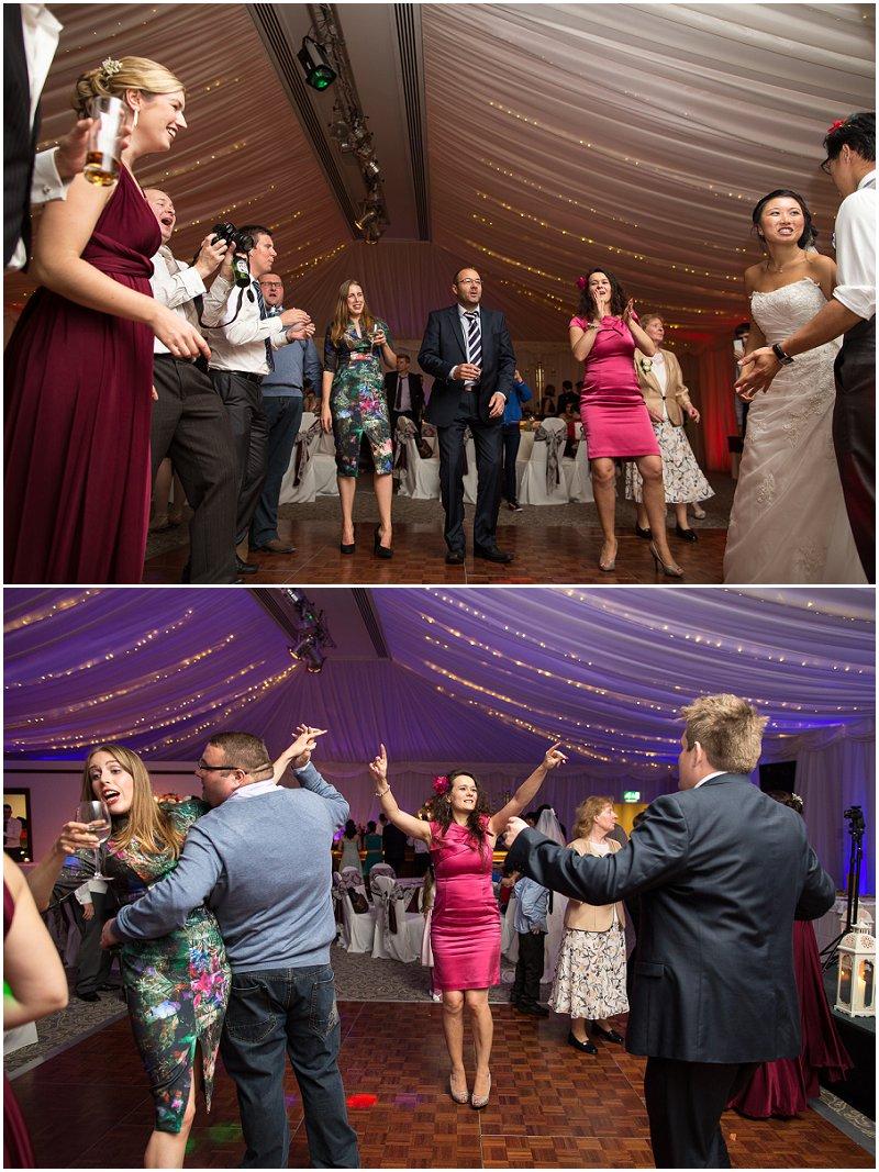 Guests dancing at The Villa | Lancashire Wedding Photography