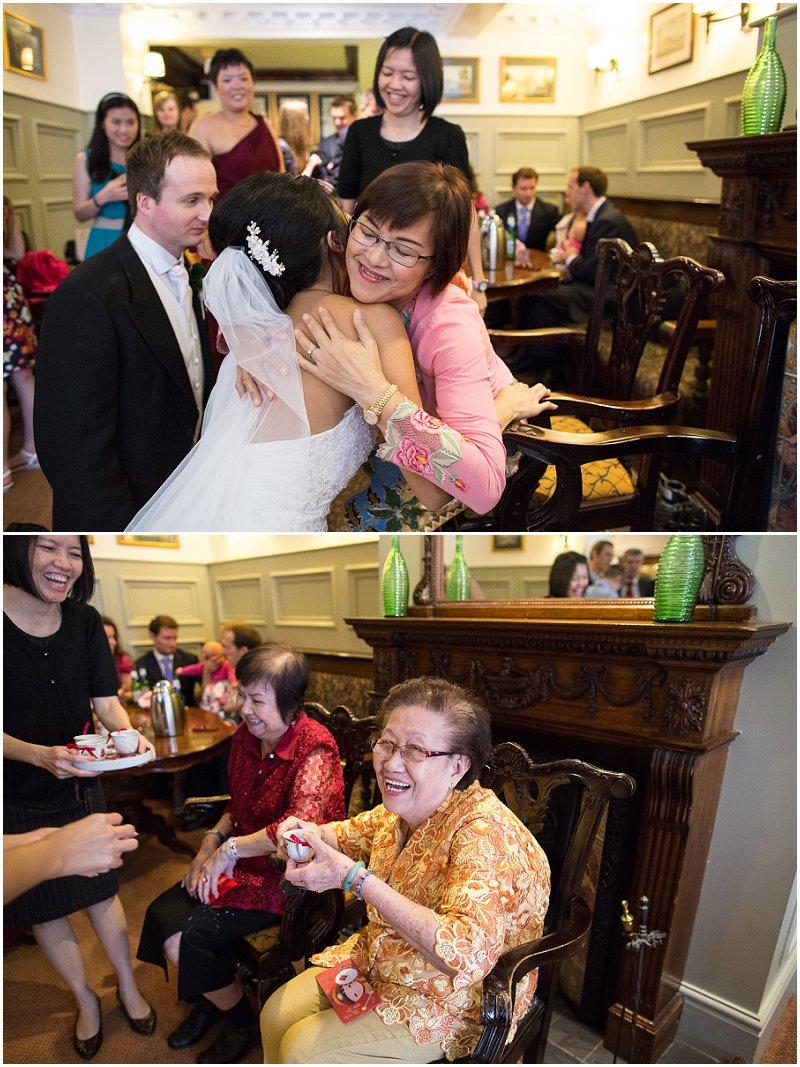 Emotional relatives at Tea Ceremony | The Villa Lancashire Wedding Photography