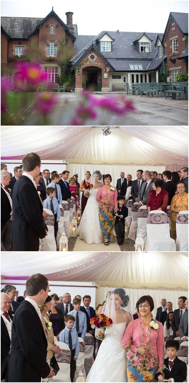 Wedding Ceremony at The Villa Wedding Photography Lancashire