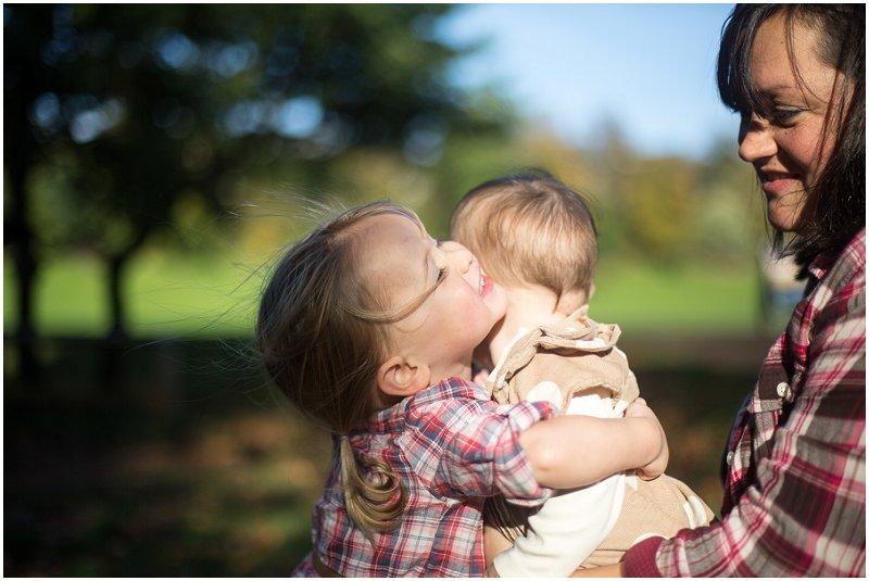 Sisters hugging | Lancashire Family Portrait Photographer