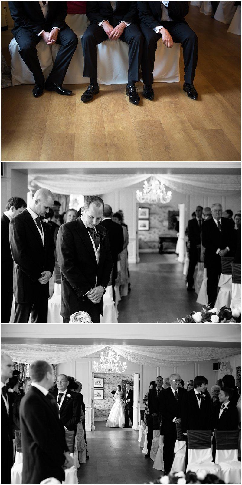 Here comes the bride Eaves Hall Lancashire wedding photographer