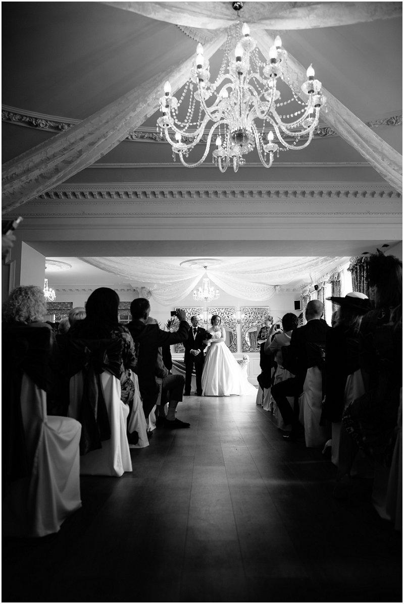 Eaves Hall wedding ceremony Lancashire Photographer