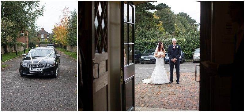 Bride arrives at Maidstone, Kent