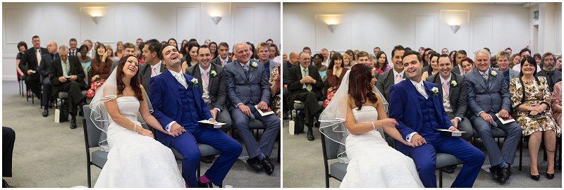 Maidstone Wedding Photographer Bride and Groom during ceremony