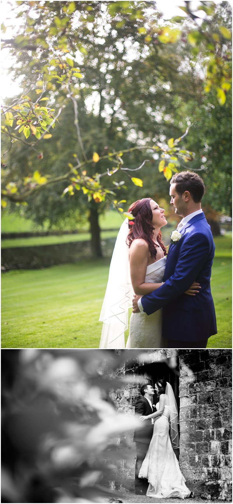 Bride and Groom in the Gardens of Turkey Mill Maidstone Wedding photography