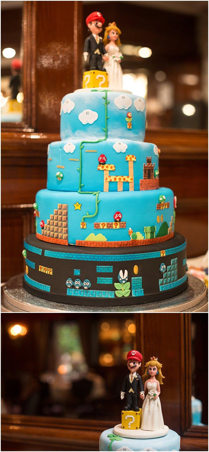Mario Themed Wedding Cake | Sefton Park Wedding Photographer