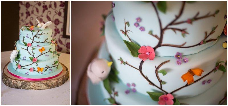 Stunning Shabby Chic Wedding Cake | Cumbria Wedding Photographer Karli Harrison Photography