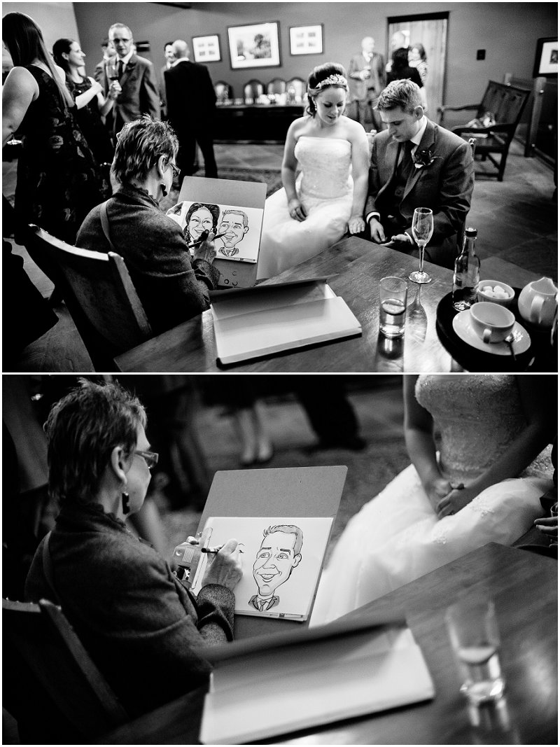 Caricaturist at Tithe Barn Lancashire Wedding Photography