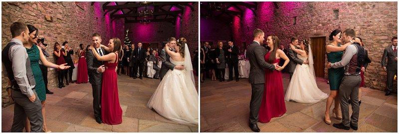 Dancing at Tithe Barn Wedding Photography Lancashire