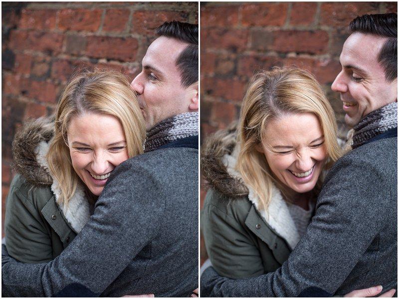 Lovely couple during pre wedding shoot Preston Avenham Park
