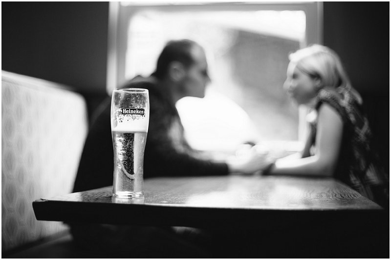 A couple chat during pre Wedding Photography Shoot Preston Lancashire