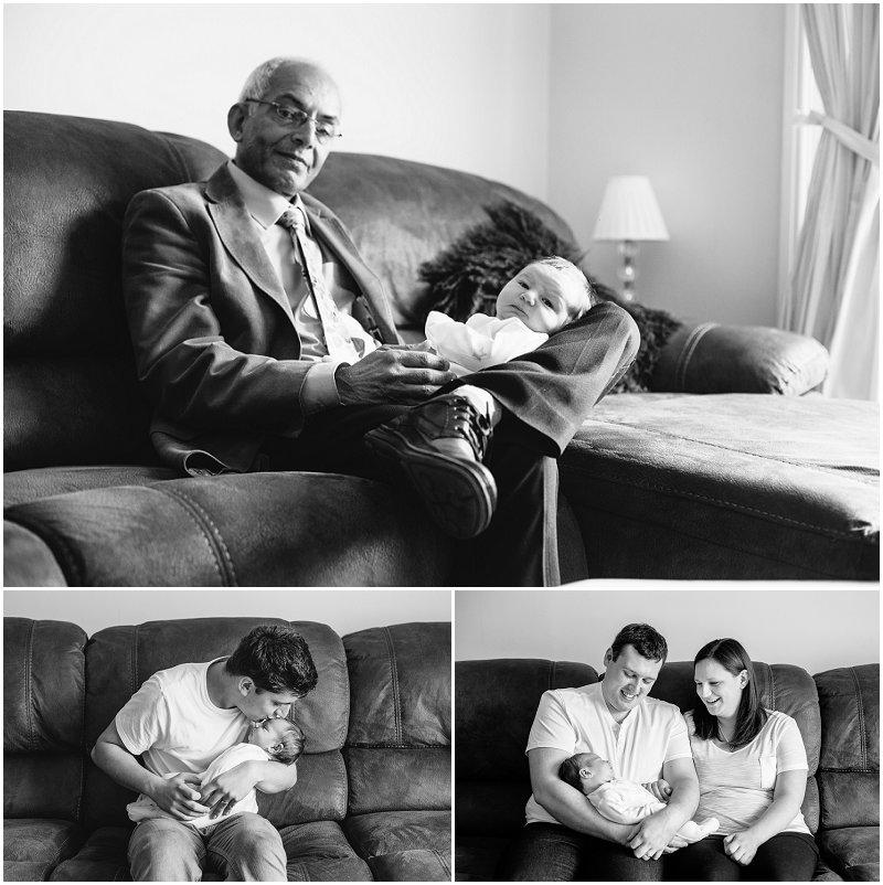 Black and White Newborn Photography Lancashire
