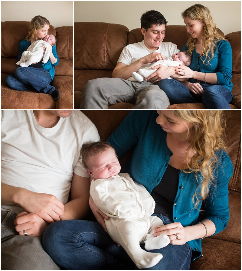 Uncle and Aunt with new Nephew Lancashire Photographer