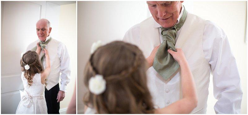 Cravat troubles at Birtsmorton Court Wedding Photography