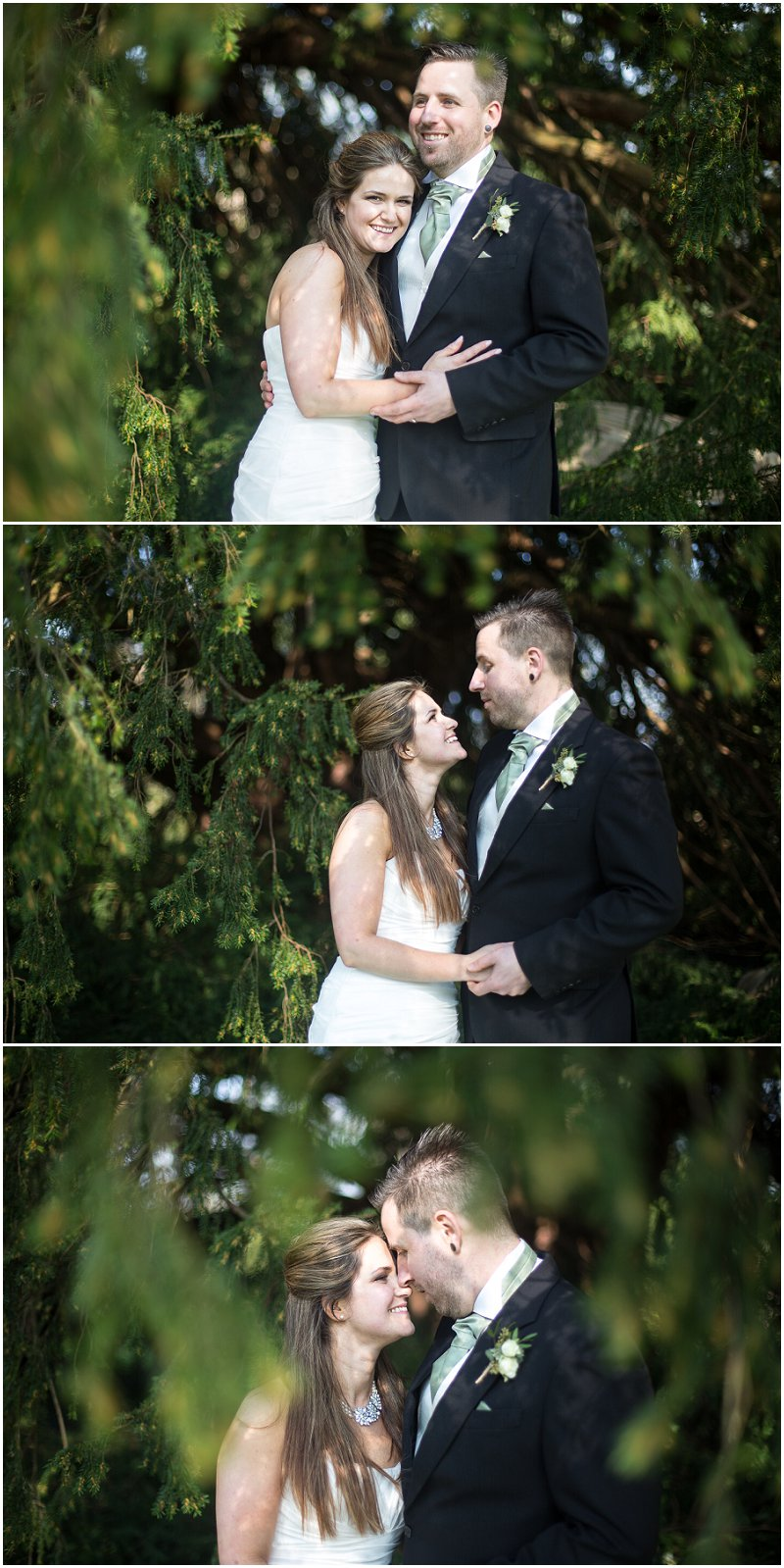Stunning couple during wedding portraits Worcestershire