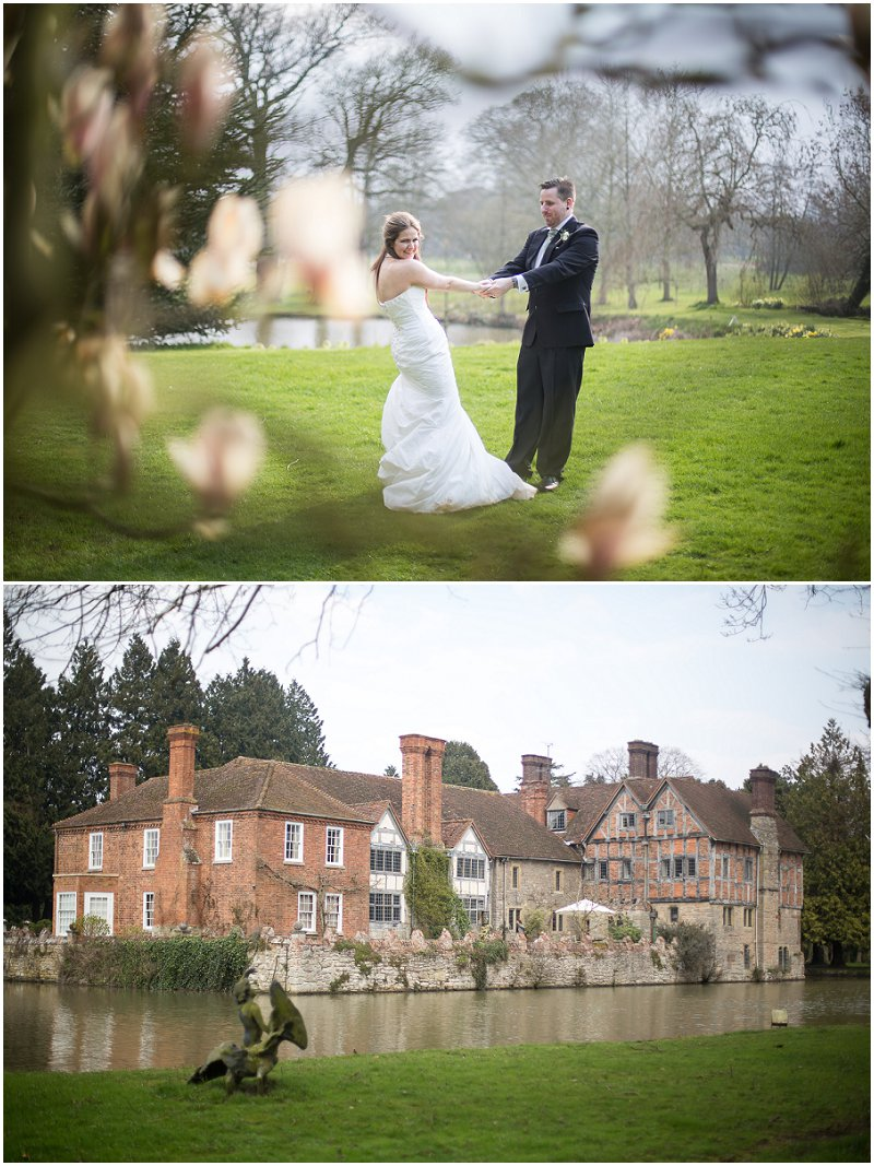 Couples portraits in grounds of Birtsmorton Court Worcestershire Wedding Photographer