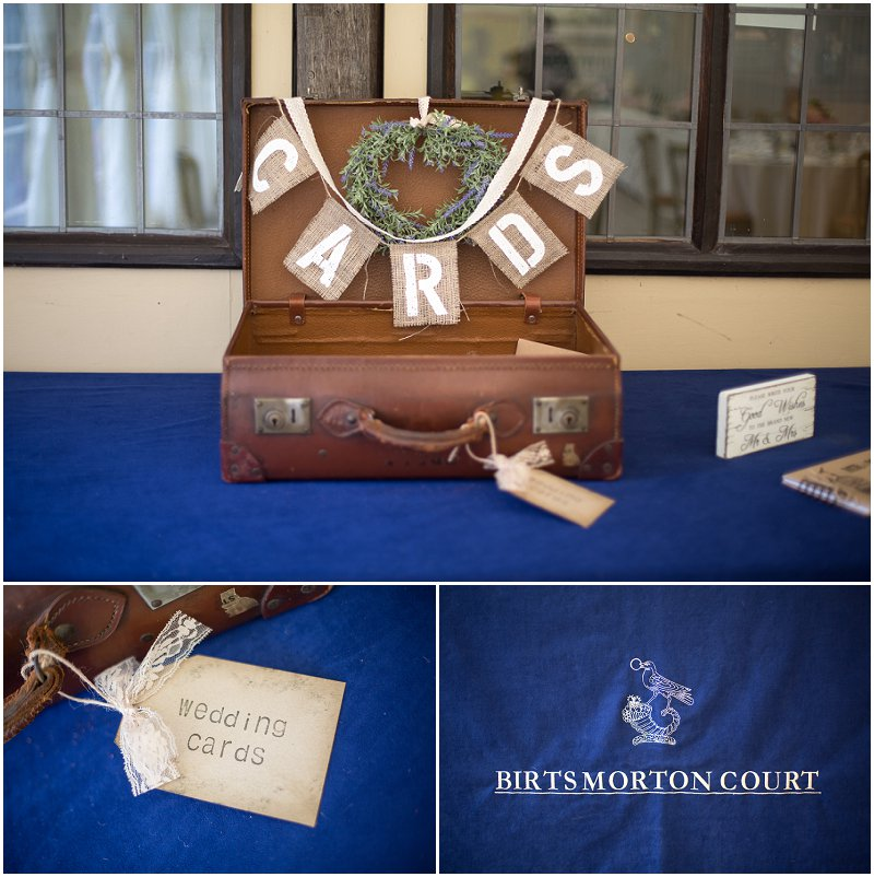 Beautiful vintage suitcase for wedding cards