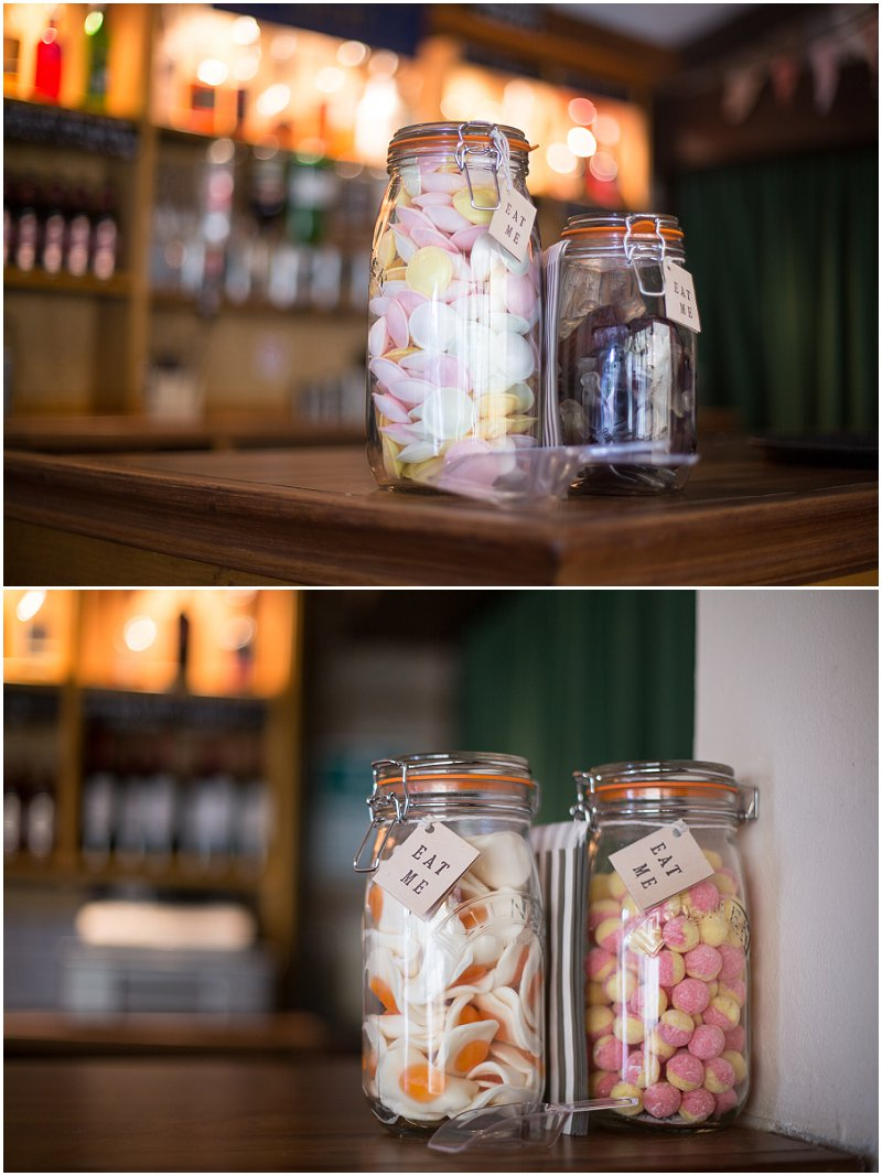 Jars of Pick and Mix at Marquis Wedding Worcestershire