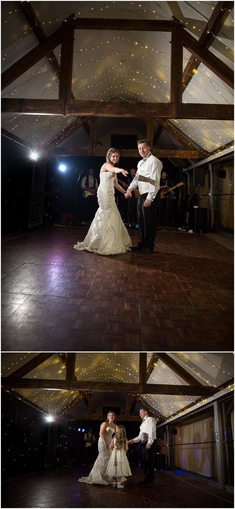 Off camera flash wedding dancing shots at Birtsmorton Court