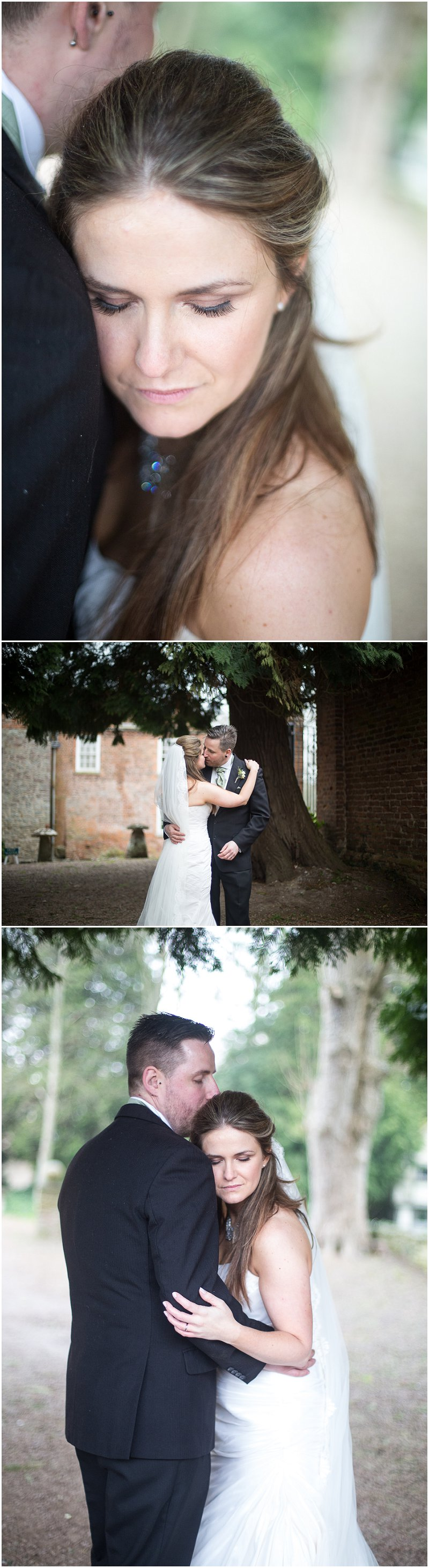 Gorgeous bride and groom in Birtsmorton Court Grounds Worcestershire