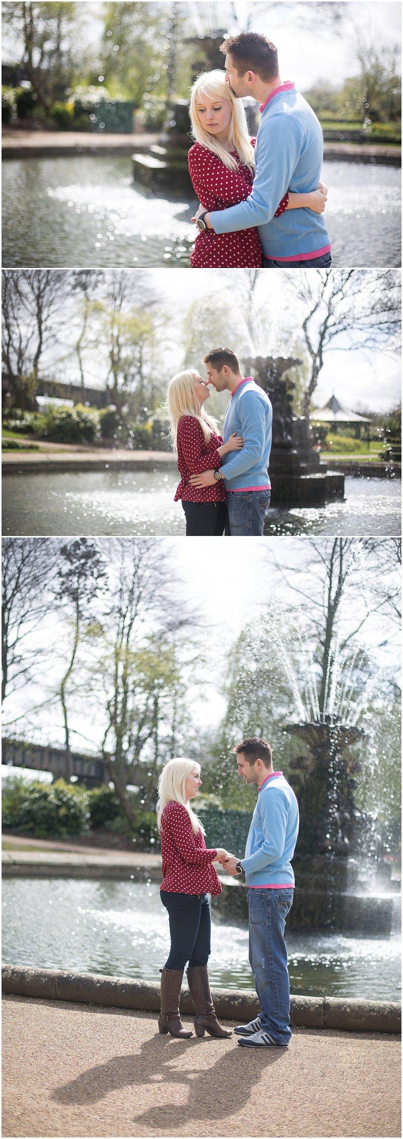 Lancashire Wedding Photography Engagement Shoot Avenham Park