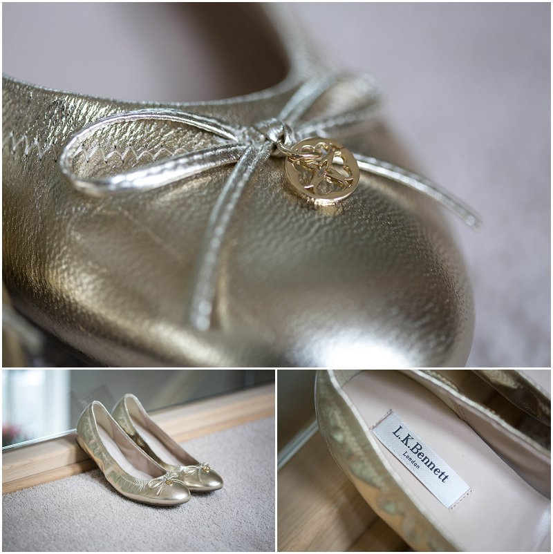 Gorgeous L.K. Bennett Flat Wedding Shoes