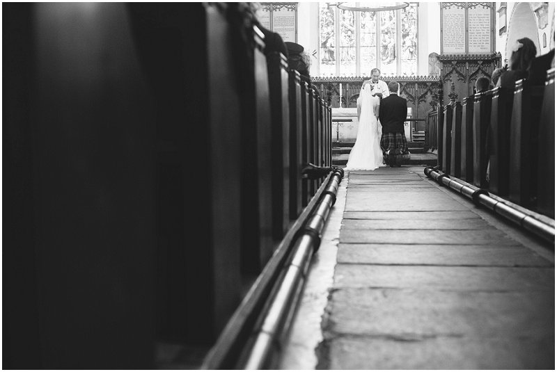 Shot from back of the church in Cumbria