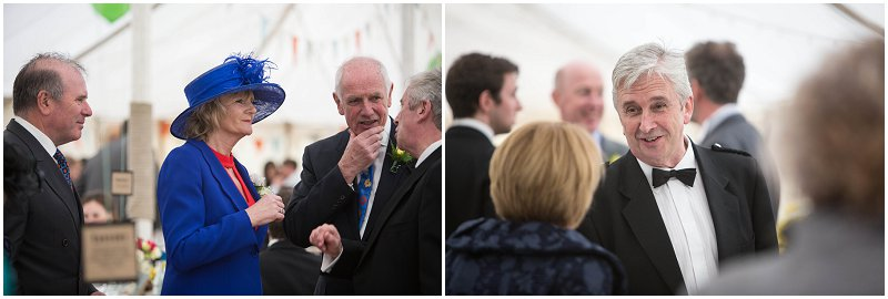 Guests enjoy evening reception in Marquee at Belmount Hall