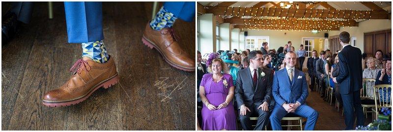 Funky Wedding socks and shoes on Groom