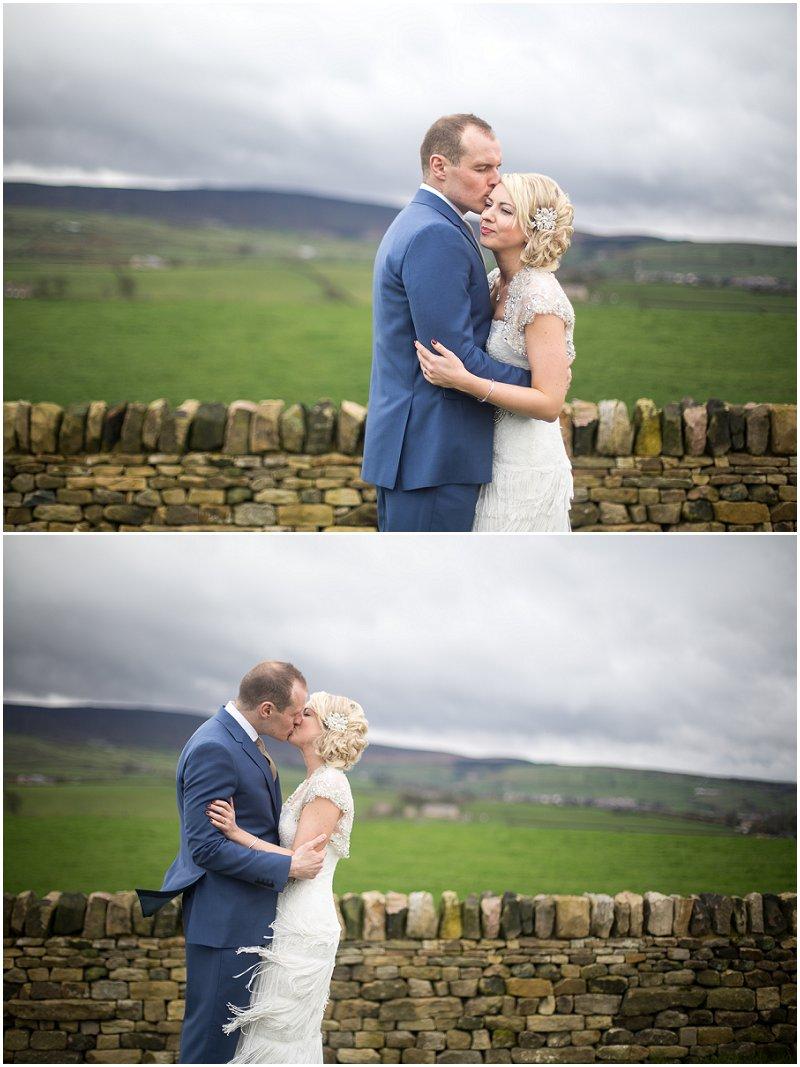 Beautiful Couple at wedding at The Alma Inn Lancashire | Karli Harrison Photography