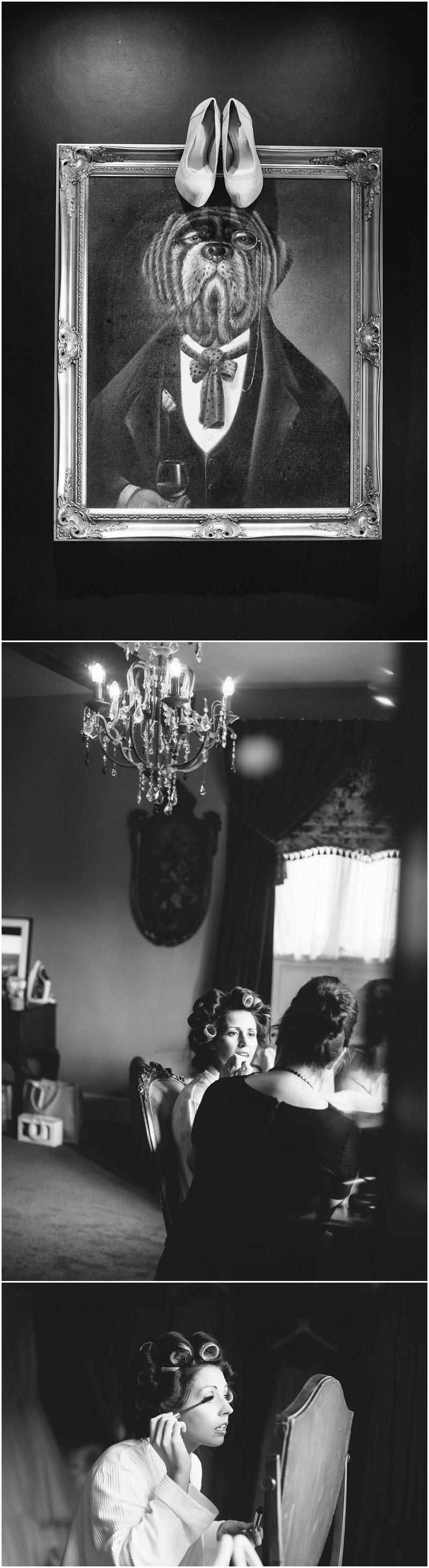 Bride prep shots at Stanley House Mellor