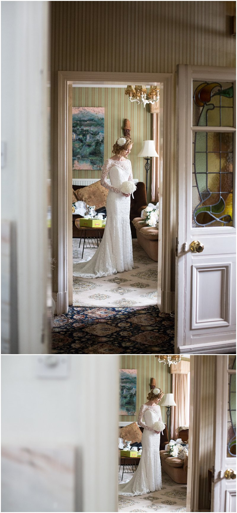 Beautiful Bride in doorway at Standish