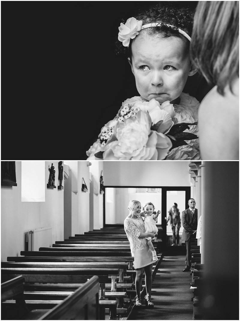 Beautiful Bridesmaid crying at Church