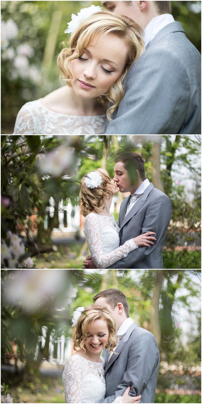 Bride and groom during portraits at Ashfield House Wedding photographer