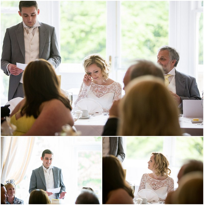Groom makes bride cry in speeches at Ashfield House Wedding