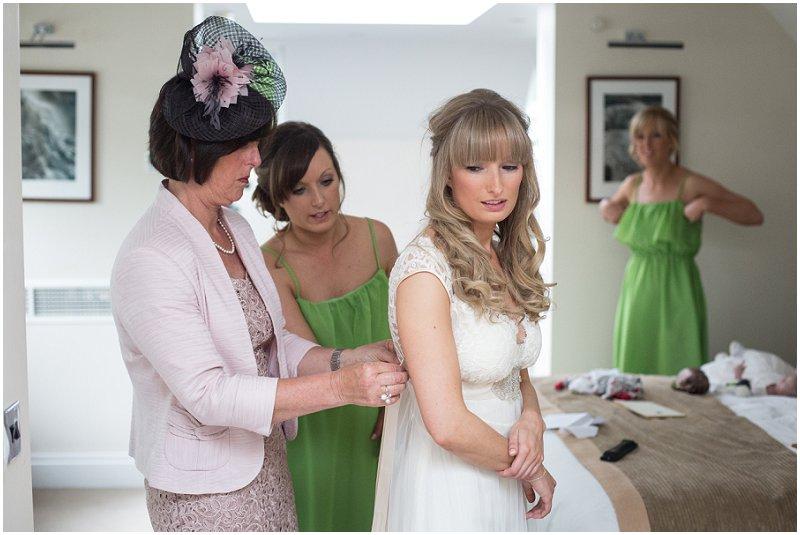 Bride prep at Linthwaite, Cumbria Wedding photography