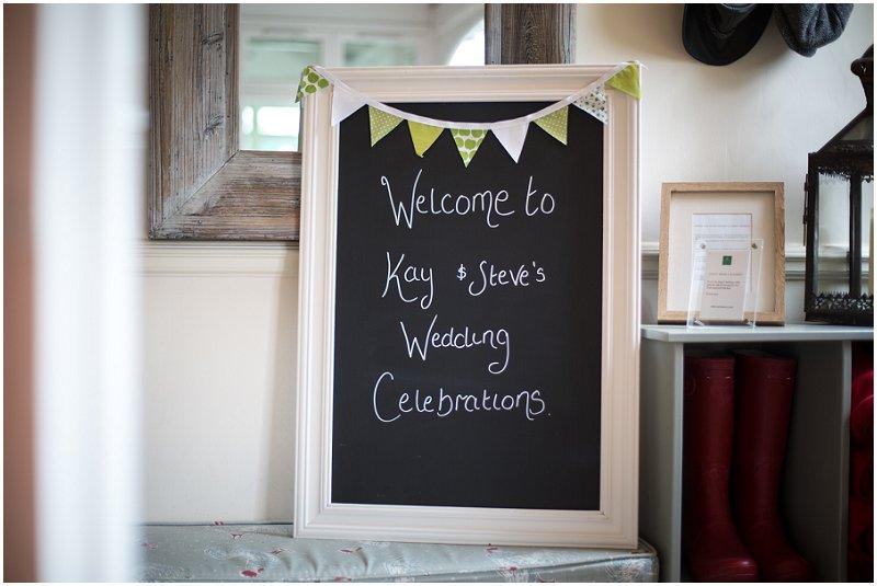 Wedding Celebrations sign at Linthwaite House