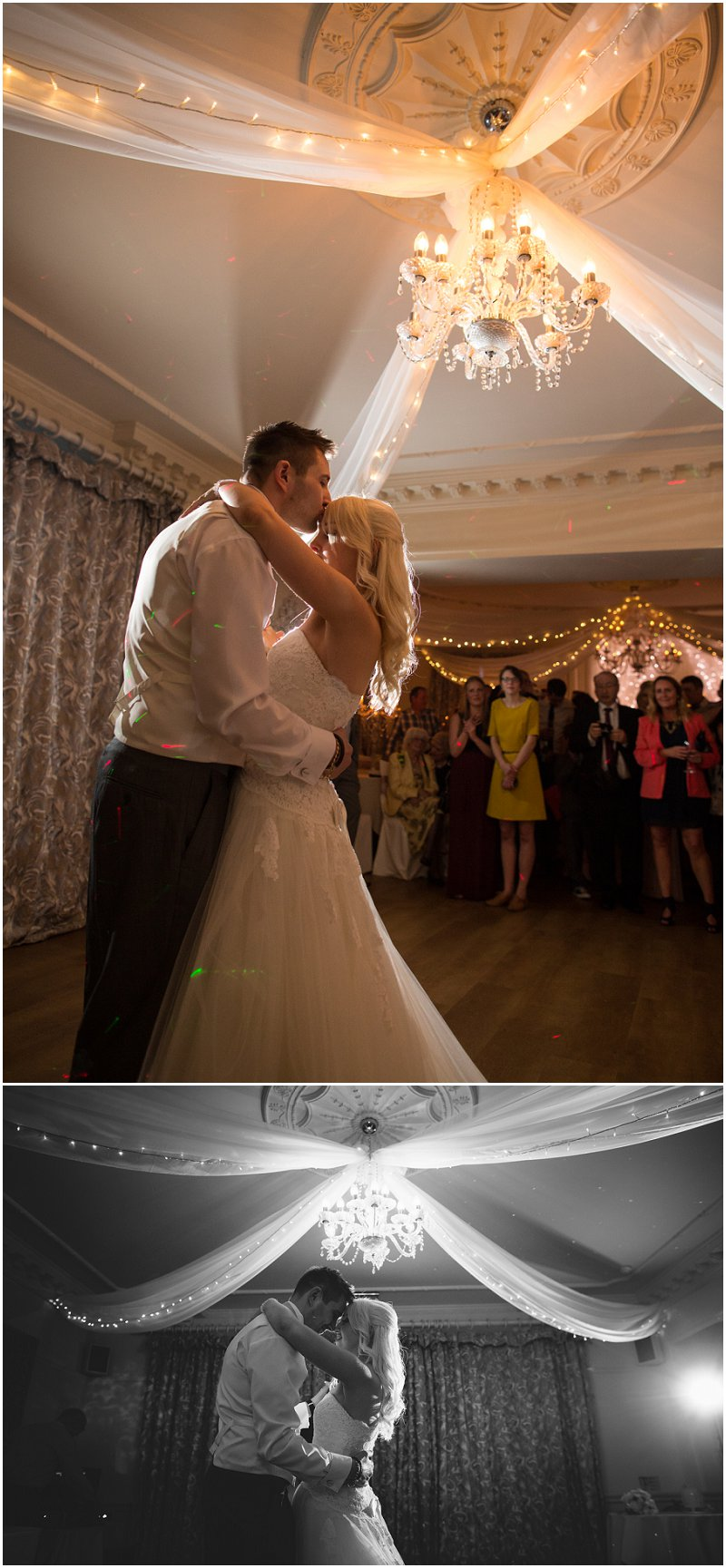 Beautiful First dance of bride and groom at Eaves Hall | Clitheroe Wedding Photographer