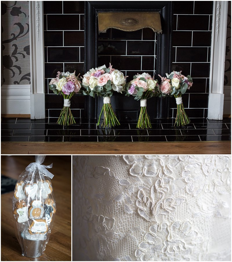 Stunning Bridal flowers at West Tower Lancashire