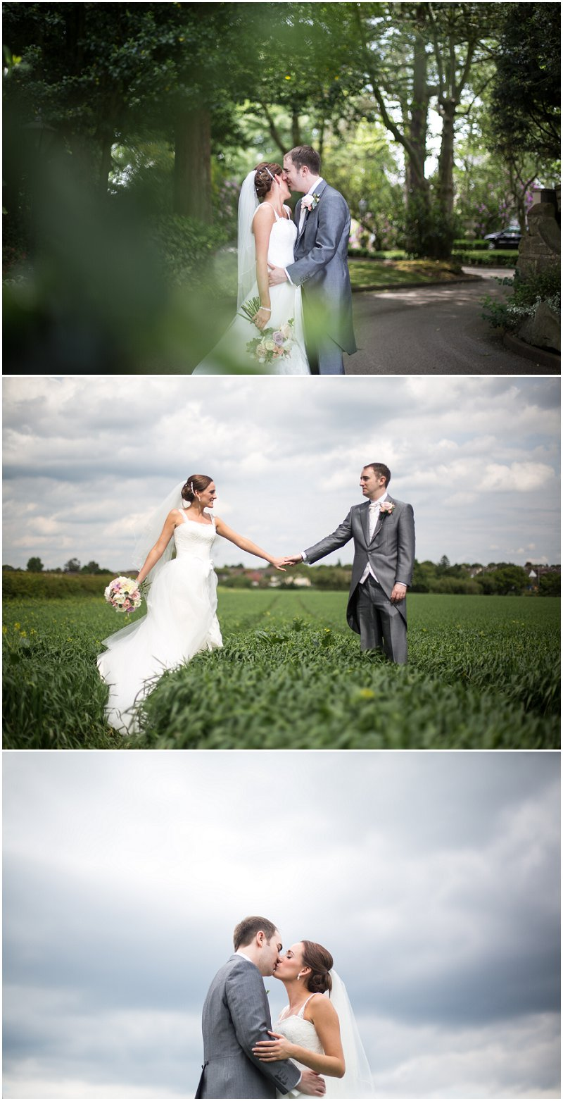 Bride and groom portraits at West Tower