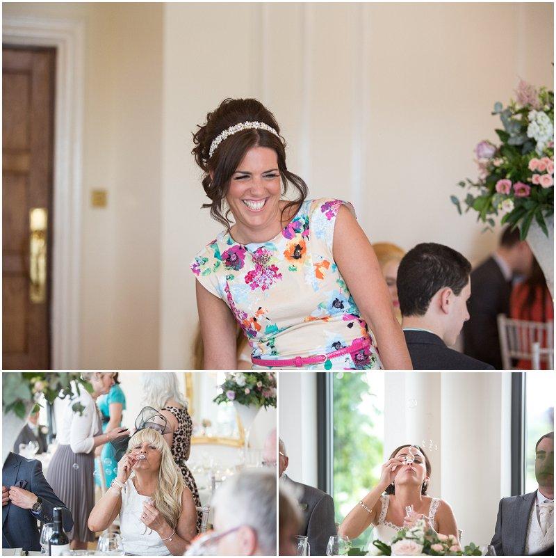 Beautiful wedding reception at West Tower wedding venue Lancashire photographer