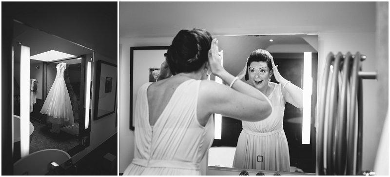 Bride prep at Linthwaite House Hotel Wedding Photographer Cumbria