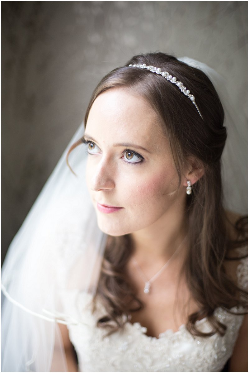 Bride on her wedding morning at Linthwaite House Cumbria Photography