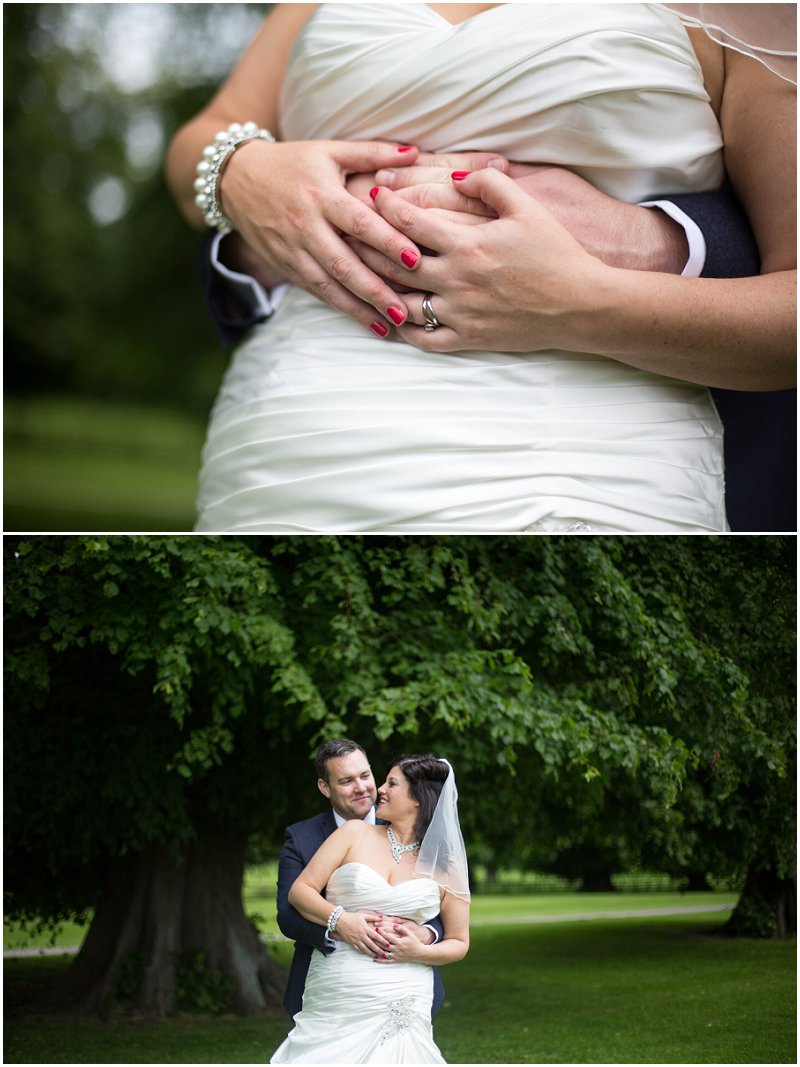 Bride and Groom portraits in grounds of Soughton Hall Wedding Photography