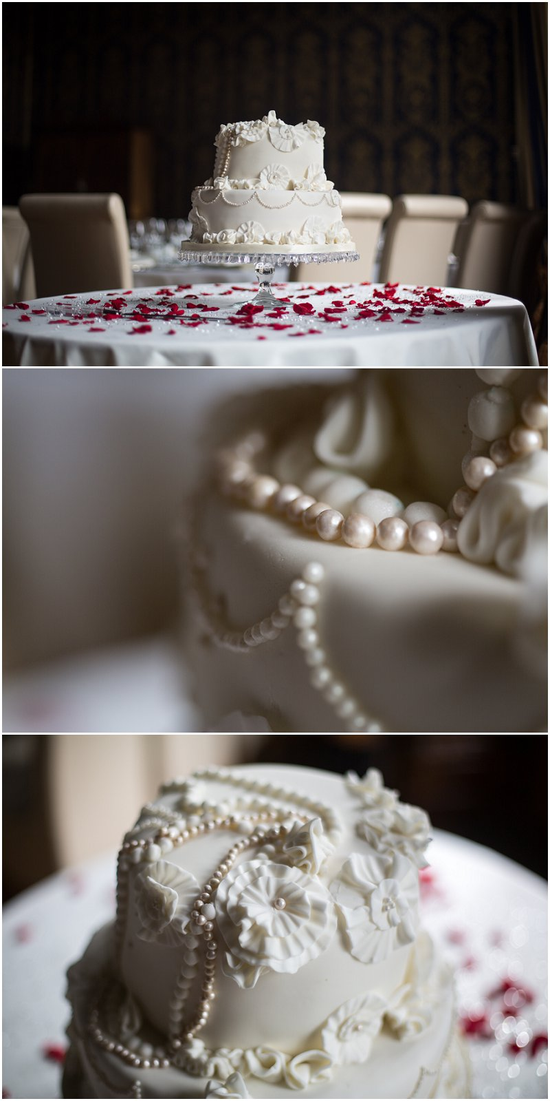 Stunning vintage wedding cake at Soughton Hall