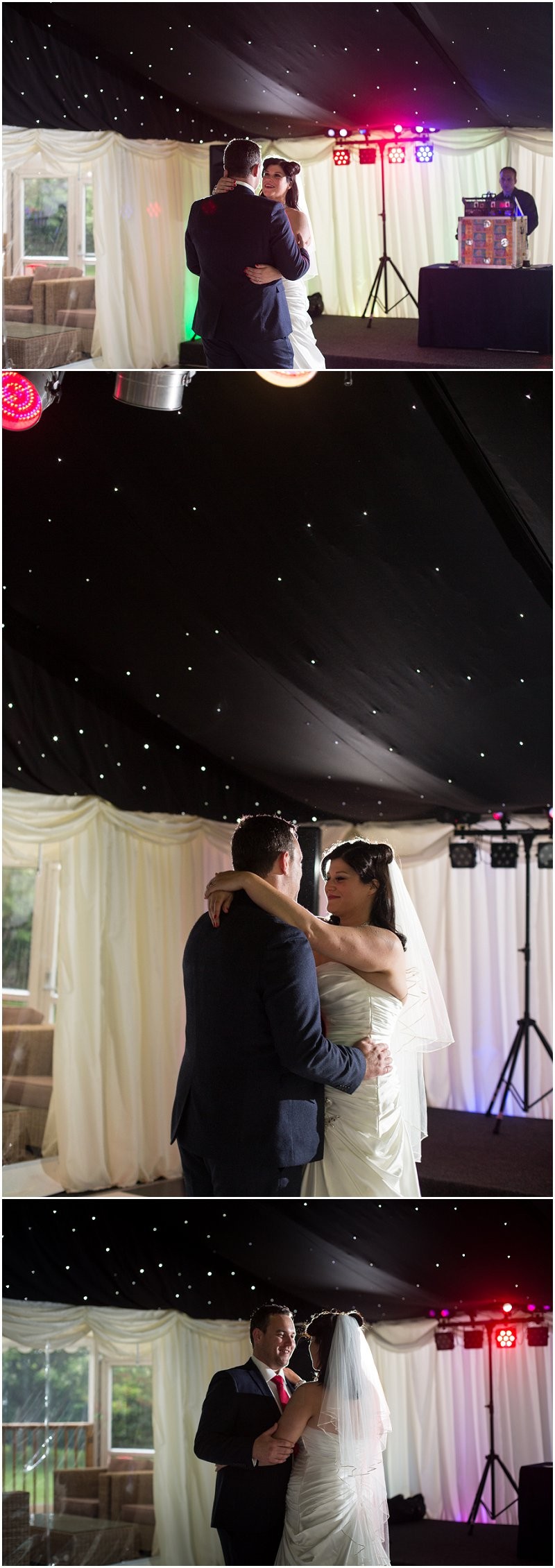 First dance in marquee at Soughton Hall wedding photographer
