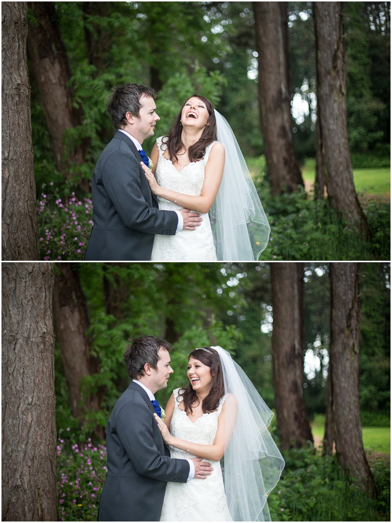 Beautiful bride and groom portraits at Abbey House Hotel Wedding