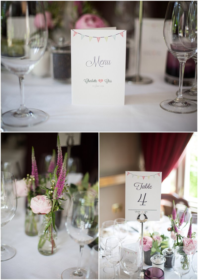 Stunning table decorations at Linthwaite House Hotel